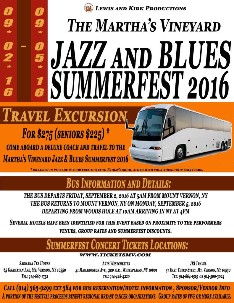 Martha's Vineyard Jazz and Blues Summerfest 2016